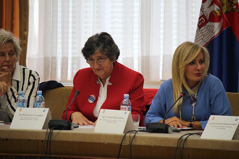 """Izlaganje Nadežde Satarić iz Amity-a na skupu """"Slavljenje starijih boraca (šampiona) za ljudska prava"""""""