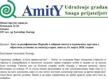 Reagovanje nadležnih na apel Amity-ja